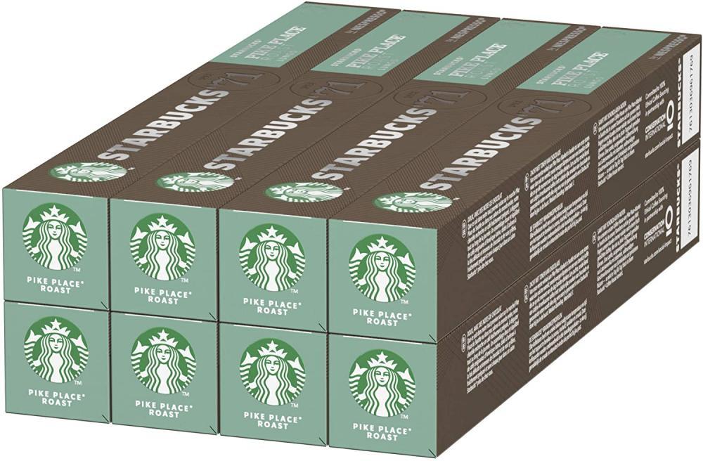 CASE PRICE  Starbucks Pike Place Roast Lungo By Nespresso 8 x 10 Capsules