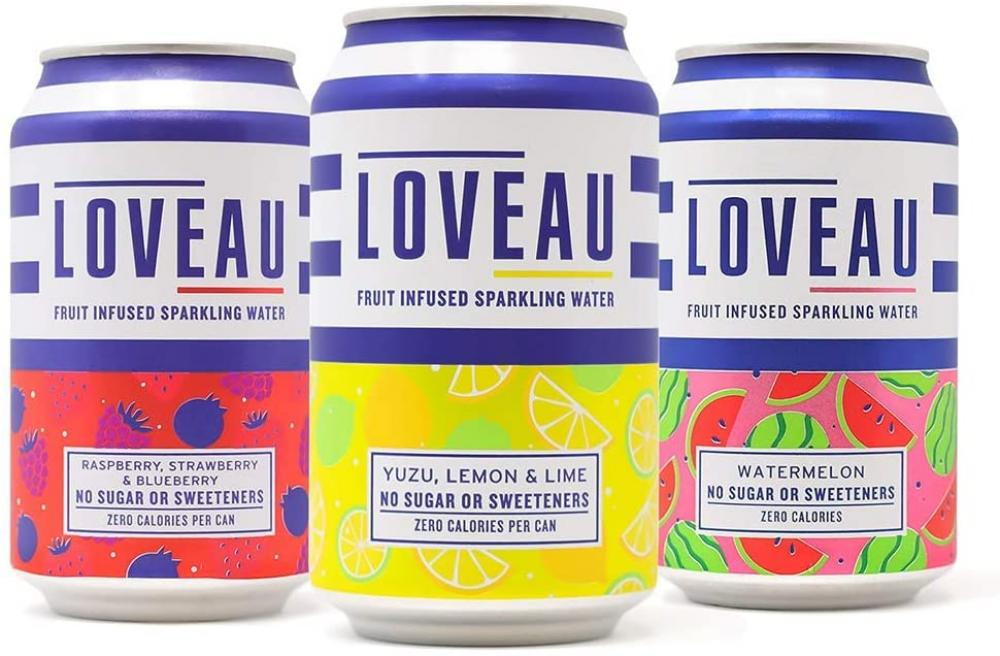 Loveau Fruit Infused Sparkling Water LUCKY DIP 330ml