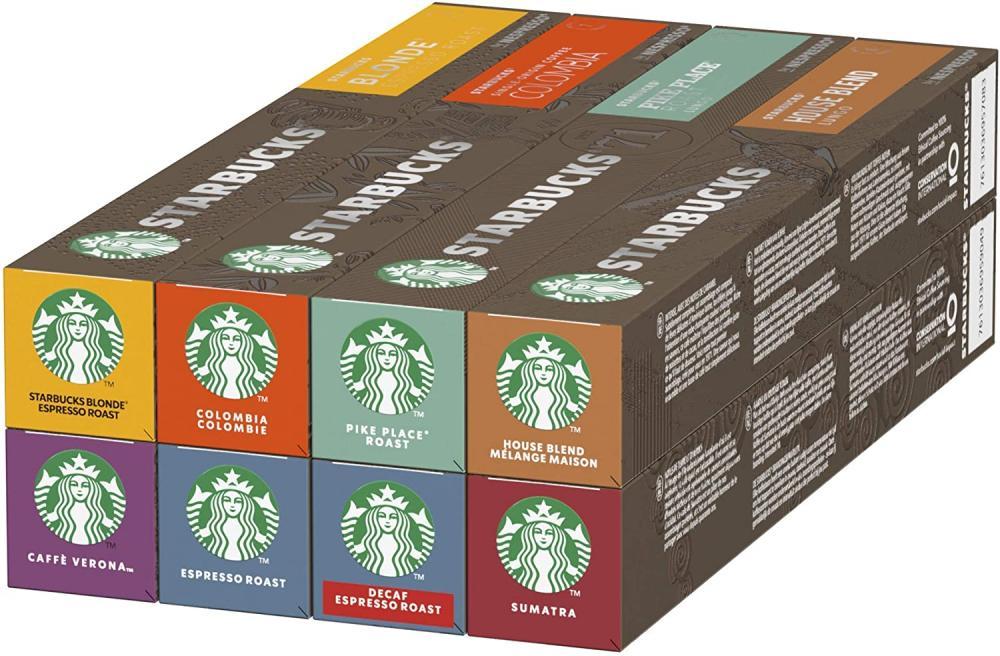 CASE PRICE  Starbucks Variety Pack Nespresso Coffee Pods 8 x 10 Pods