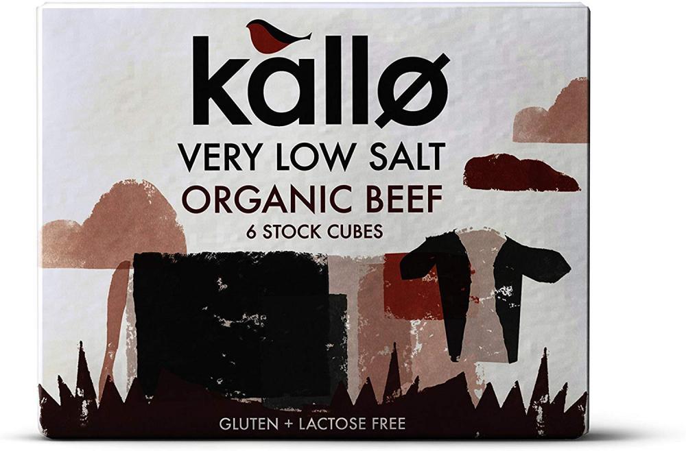 Kallo Very Low Salt Organic Beef Stock 6 Cubes