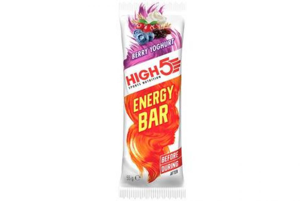 WEEKLY DEAL  High 5 Sports Nutrition Energy Bar Berry Yoghurt Flavour 55g