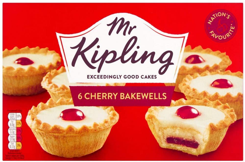 Mr Kipling 6 Cherry Bake Wells 308g