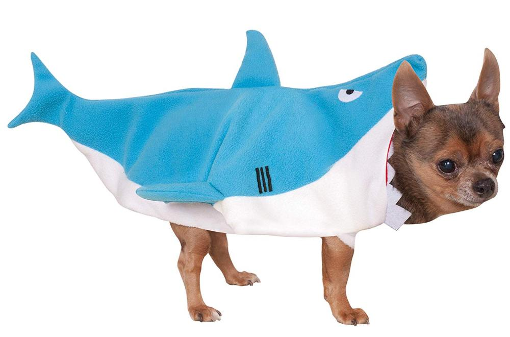 Rubies Official Shark Pet Dog Costume BlueWhite Small