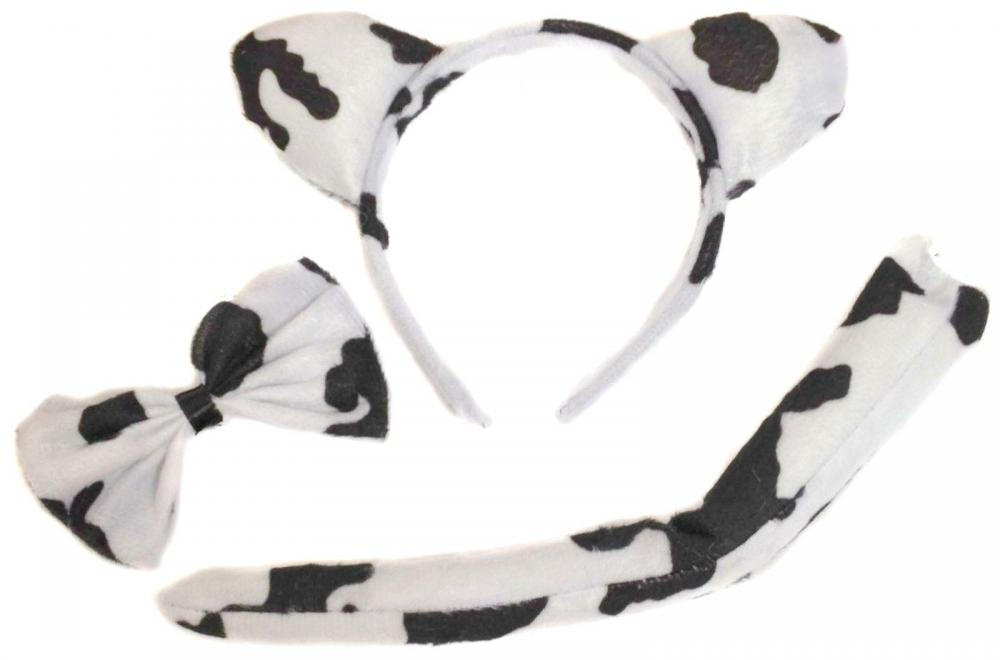Unbranded Cow Ears Bowtie and Tail
