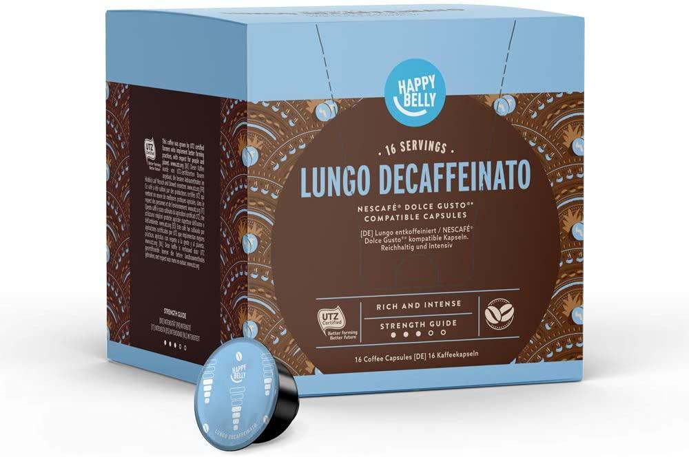 Happy Belly Lungo Decaffeinato Coffee Pods 16 capsules