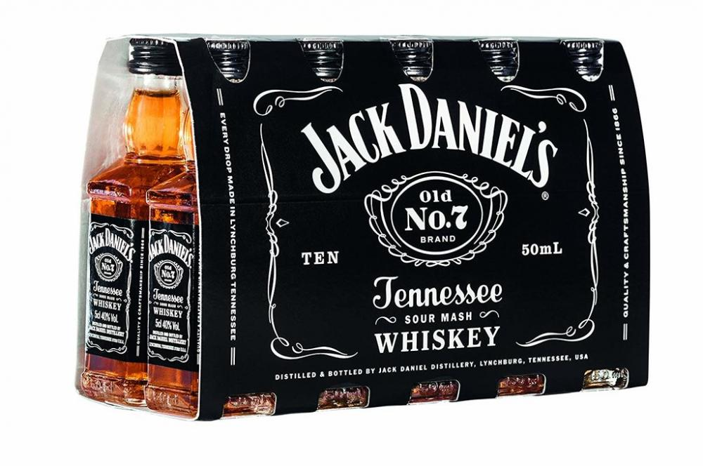 Jack Daniels Whiskey Miniatures 5 cl Case of 10