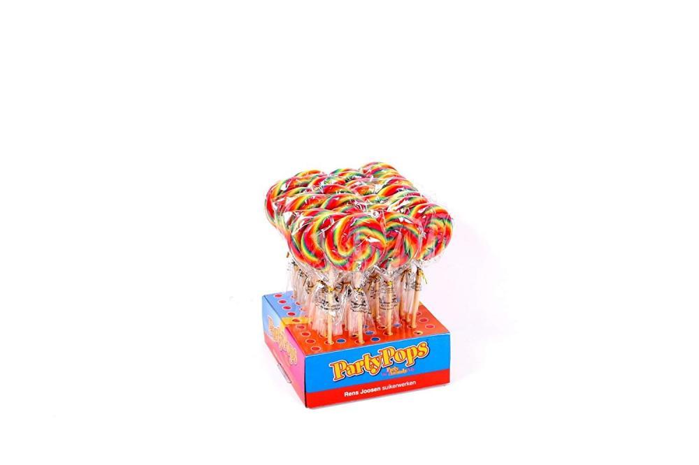 Party Pops Spiral Rainbow Lollipop 50g