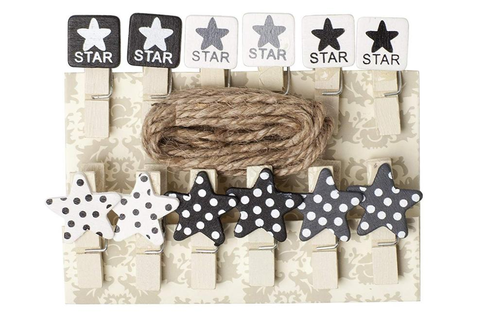 Unbranded Star Design Washing Line Pegs