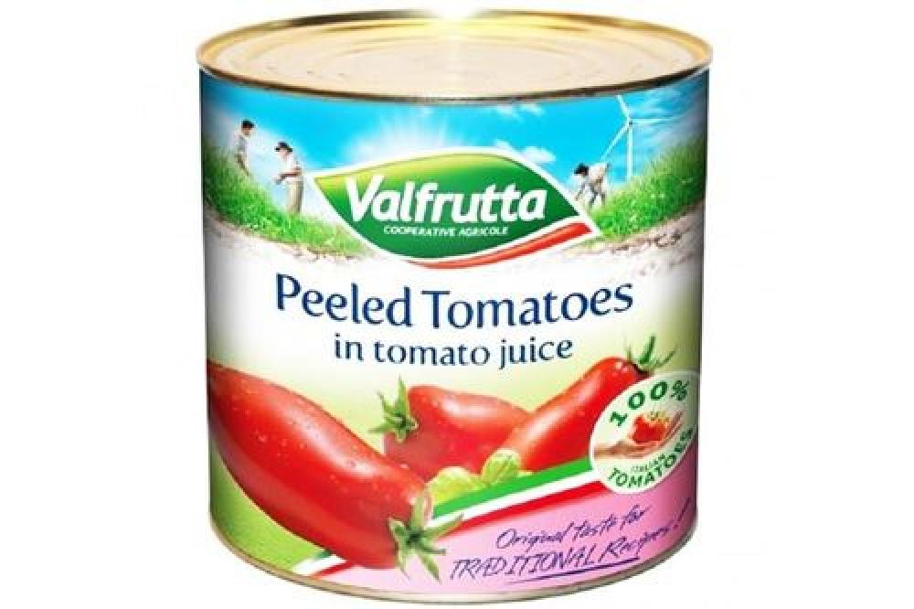 Valfrutta Peeled Tomatoes In Tomato Juice 2.5kg