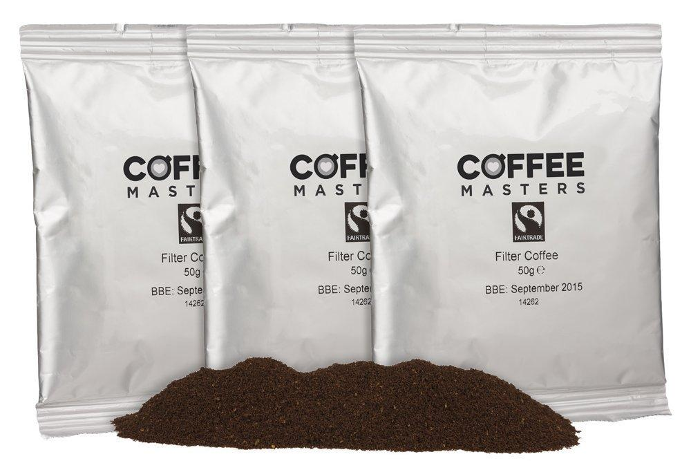 Coffee Masters Fairtrade Ground Filter Coffee Sachets 50g