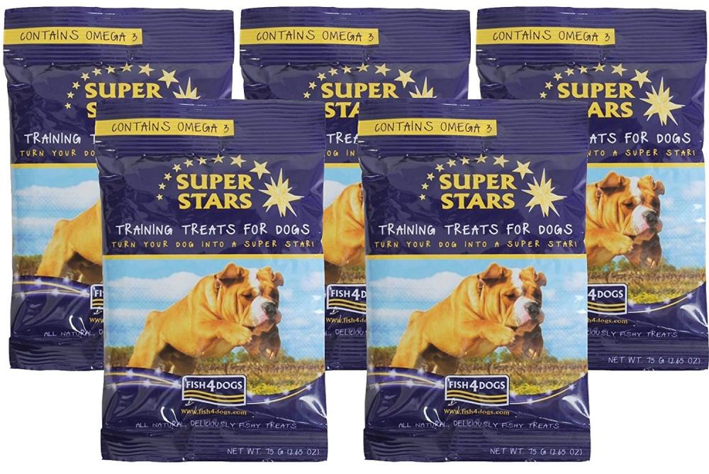 Fish 4 Dogs Super Stars Training Treats For Dogs 75g