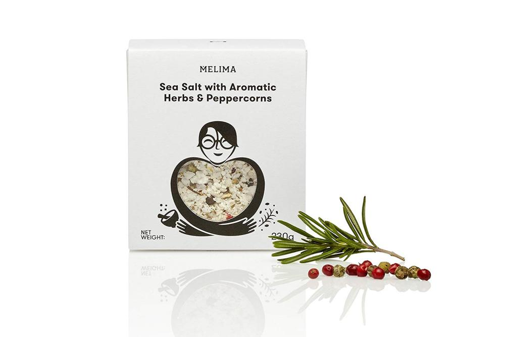 Melima Sea Salt with Aromatic Herbs and Peppercorns 230g
