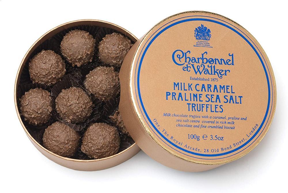 Charbonnel Et Walker Sea Salt Praline Milk Caramel Truffles 100g