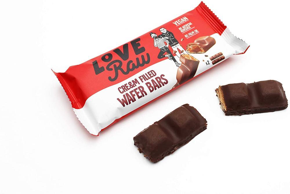 LoveRaw Creamy Hazelnut Wafer Vegan Chocolate Bar 43g