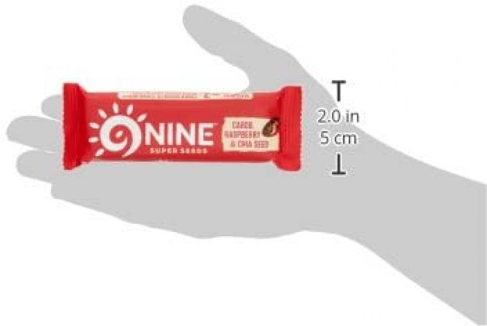 NINE Super Seeds Carob Raspberry and Chia Bar 40 g