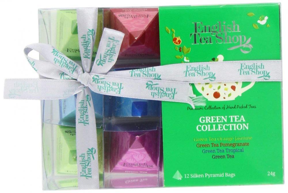 English Tea Shop Green Tea Collection 12 Pyramis Bags