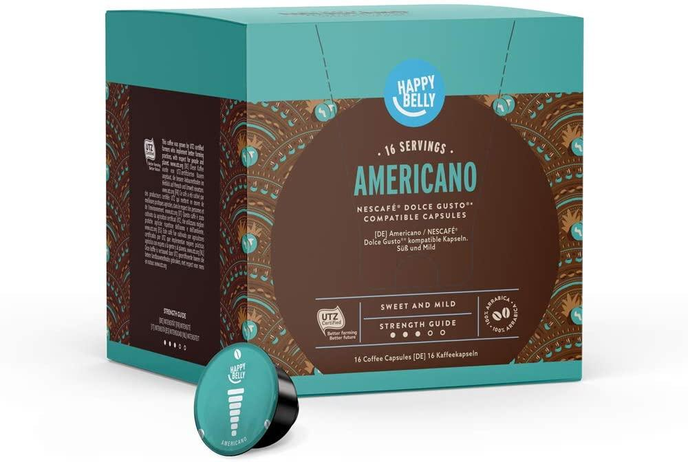 Happy Belly Americano Coffee Pods Compatibles with Nescafe Dolce Gusto 152g