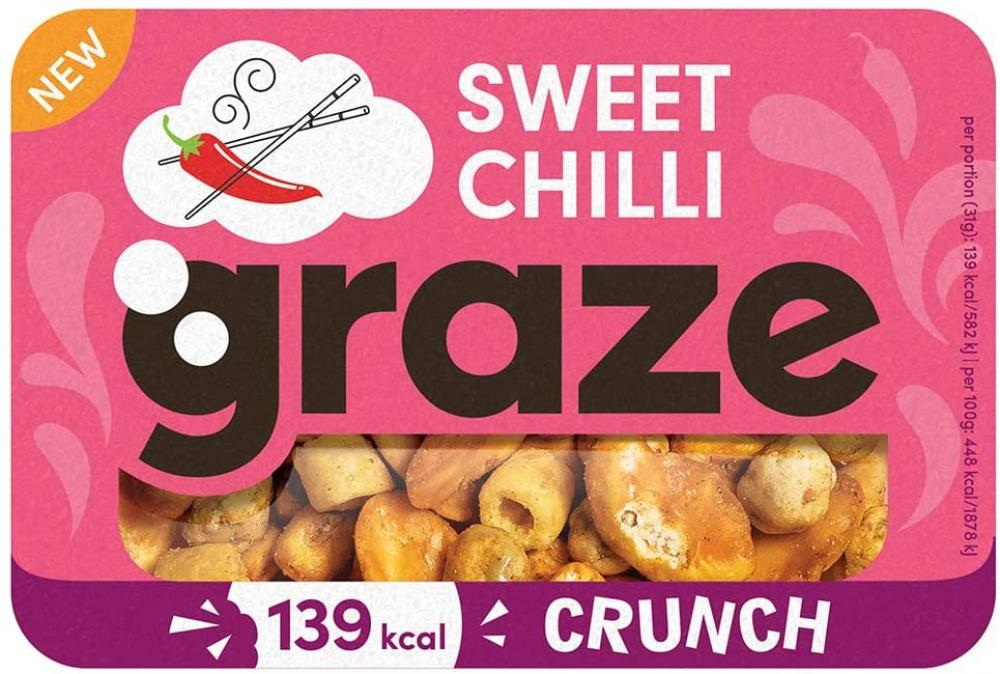 20P MEGA DEAL  Graze Sweet Chilli Crunch 31g