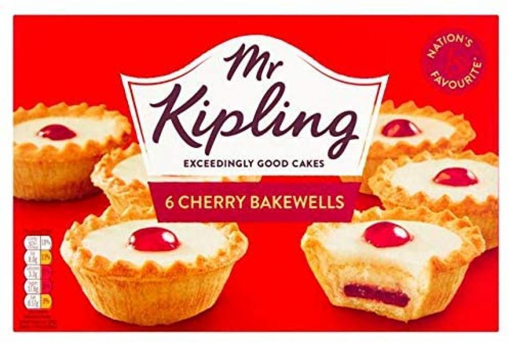 Mr Kipling 6 Cherry Bakewells