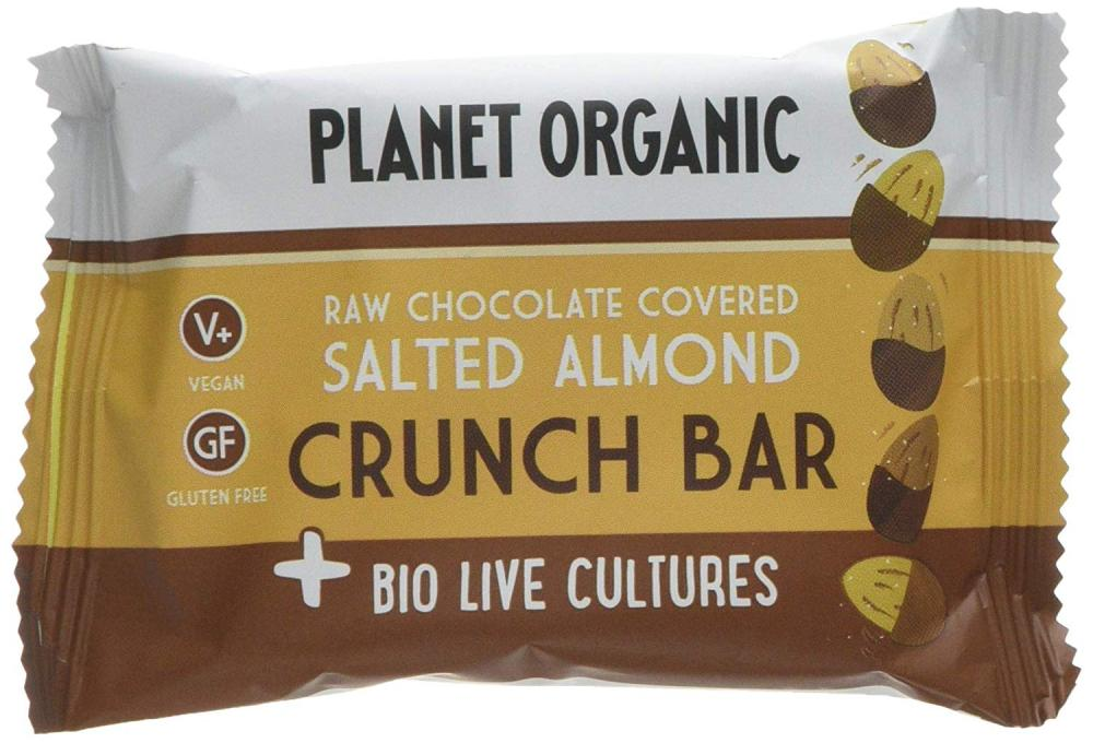 Planet Organic Salted Almond Biolive Choc Crunch 40g