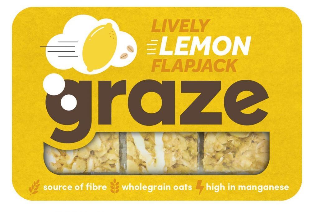Graze Lively Lemon Oat Flapjack 53g