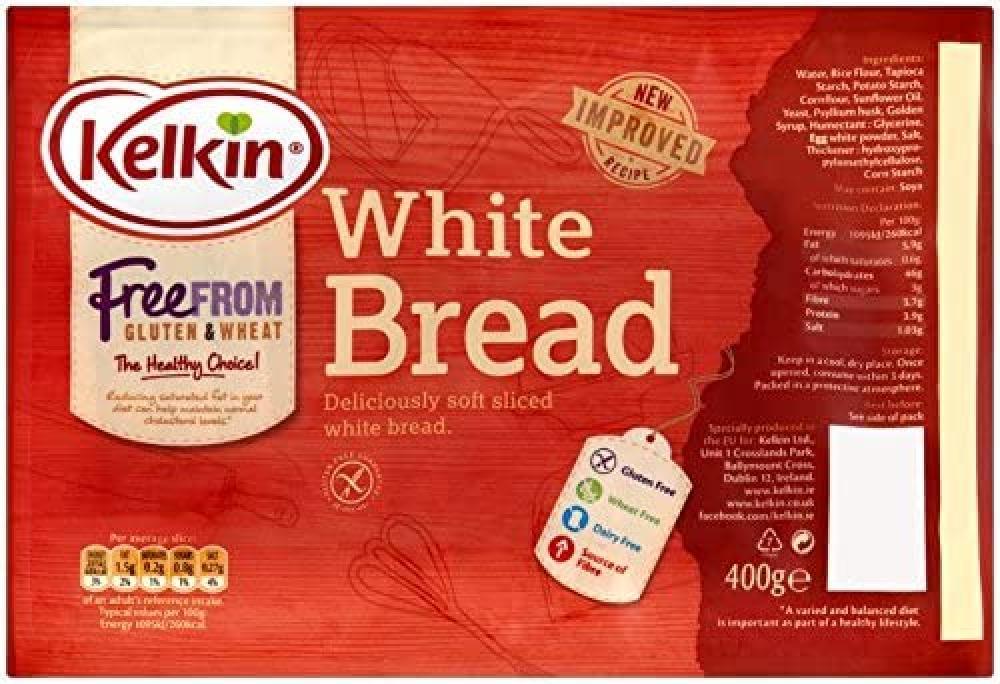 Kelkin Gluten Free Sliced White Bread 400g