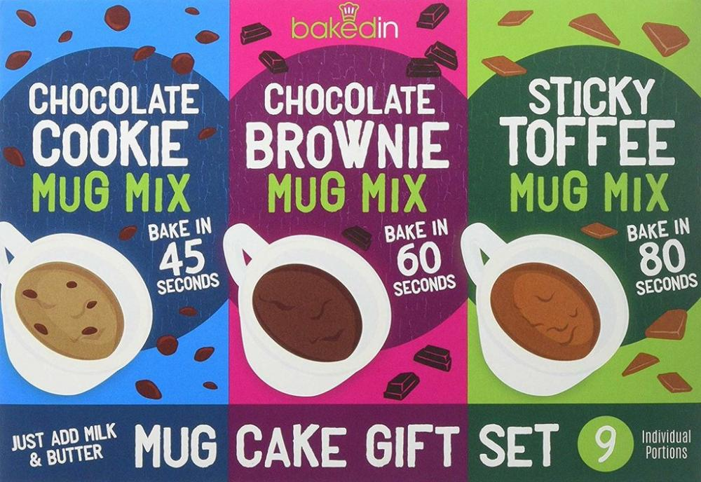 Bakedin Mug Cake Triple Pack Gift Set Damaged Box 505g