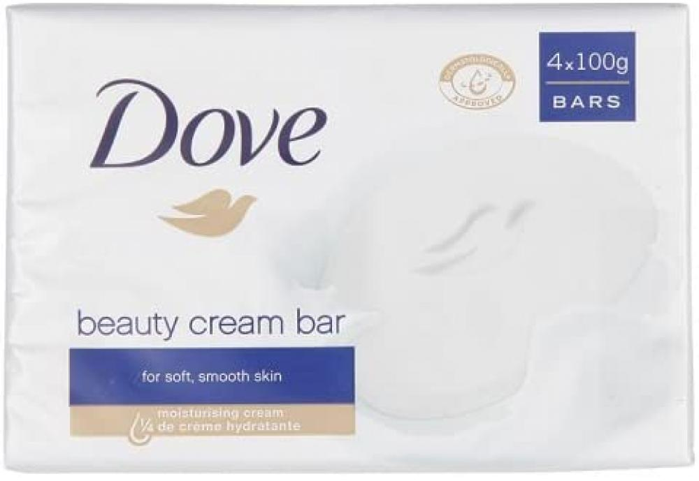 Dove Original Beauty Cream Soap Bars 4 x 100g