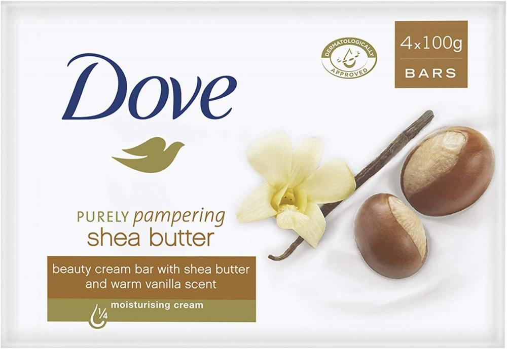 Dove Purely Pampering Shea Butter Beauty Bar 4 x 100 g