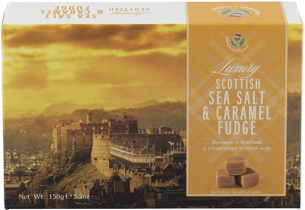 Luxury Scottish Sea Salt And Caramel Fudge 150 g