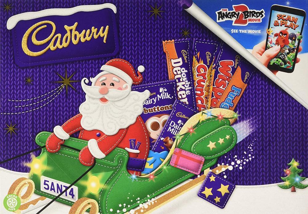 SUMMER SALE  Cadbury Santa Chocolate Selection Box Medium 153g