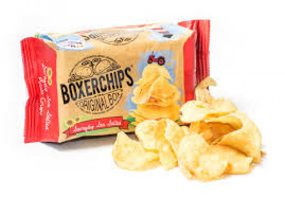 Boxerchips Savagely Sea Salted Potato Crisps 40g