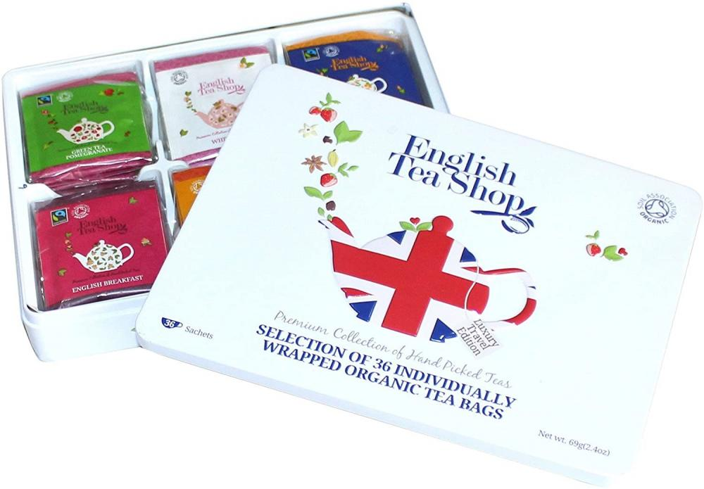 English Tea Shop Selection of 72 Individually Wrapped Organic Teabags Union Jack
