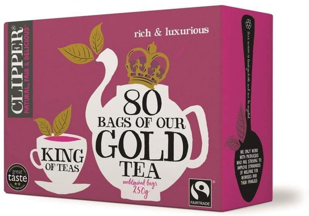 Clipper Glorious Gold Blend 80 Teabags