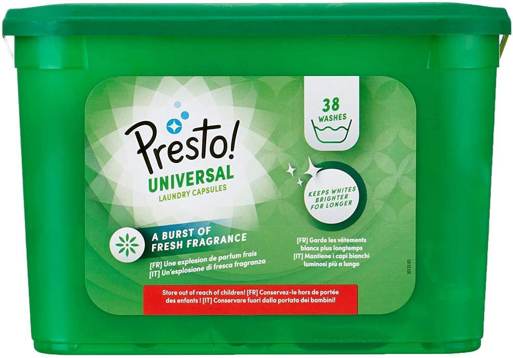 Presto Laundry Capsules Universal 38 Washes