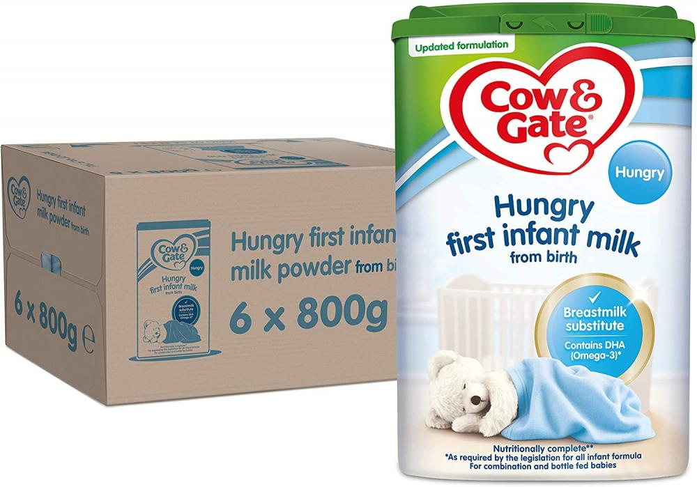 Cow and Gate Infant Milk for Hungrier Babies From Birth 800g