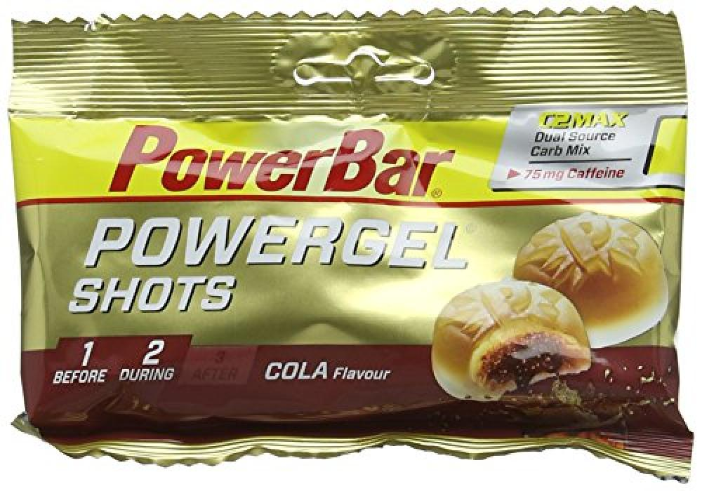 SALE  Power Bar PowerGel Shots 60g Pouch - Cola 75mg Caffeine Flavour