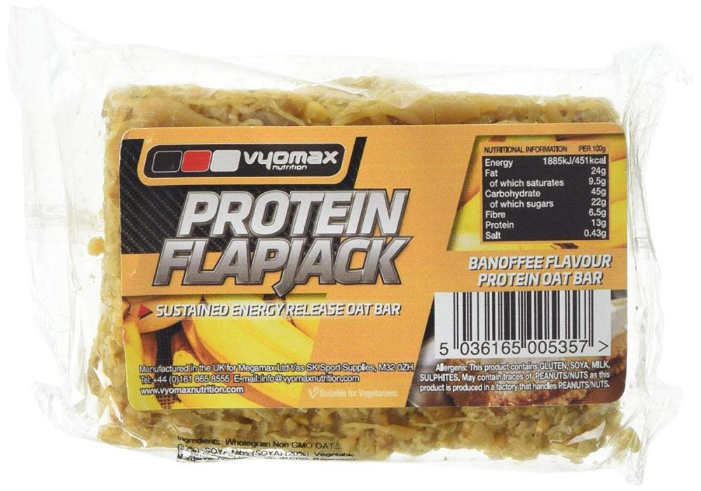 Vyomax Nutrition Banoffee Protein Flapjack 100 g
