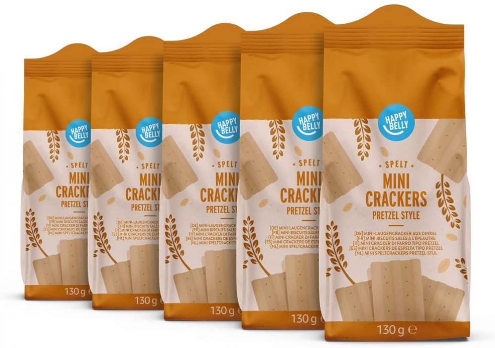 Happy Belly Spelt Mini Crackers Pretzel 130g