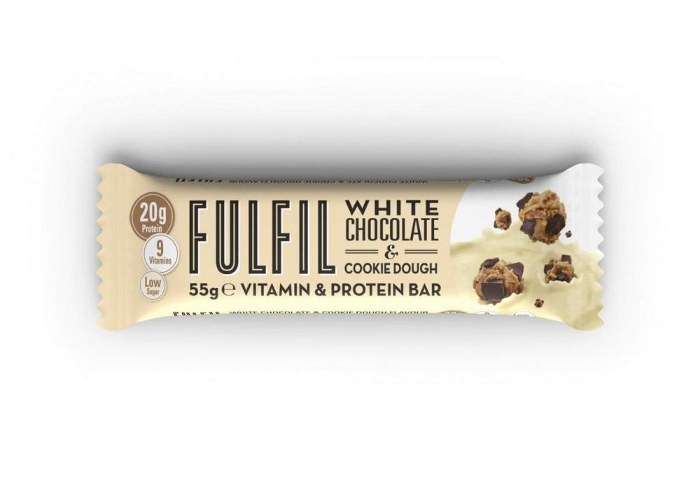Fulfil White Chocolate and Cookie Dough Vitamin and Protein Bar 55g