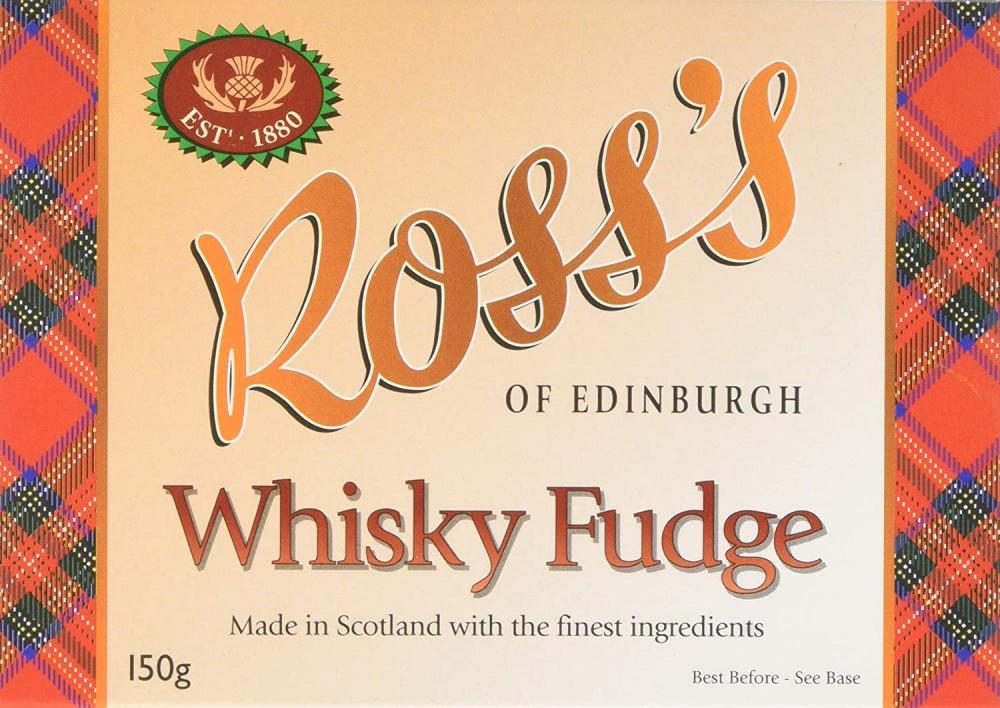 Rosss of Edinburgh Whisky Fudge 150g