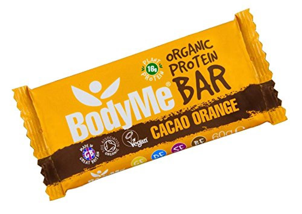 BodyMe Organic Protein Bar Cacao Orange 60 g