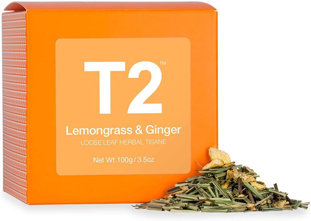 T2 Tea Loose Leaf Herbal in Box Lemongrass Ginger 100g