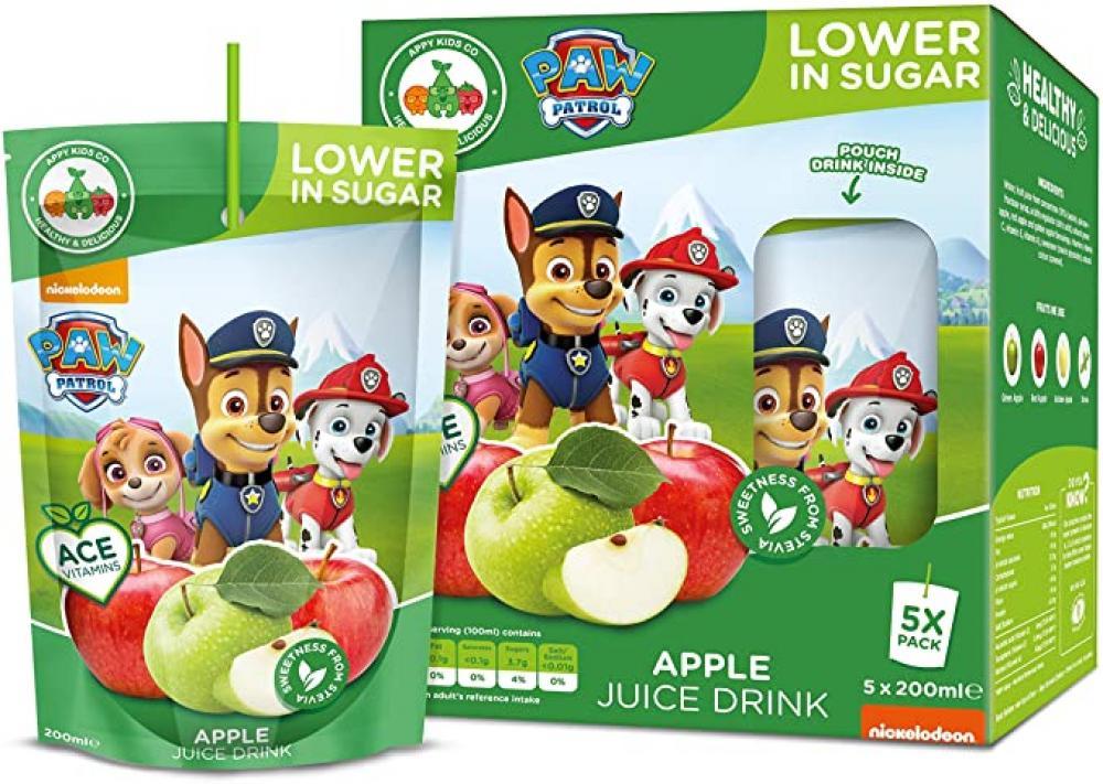 WEEKLY DEAL  Paw Patrol Zero Sugar Apple Drink 5 x 200ml