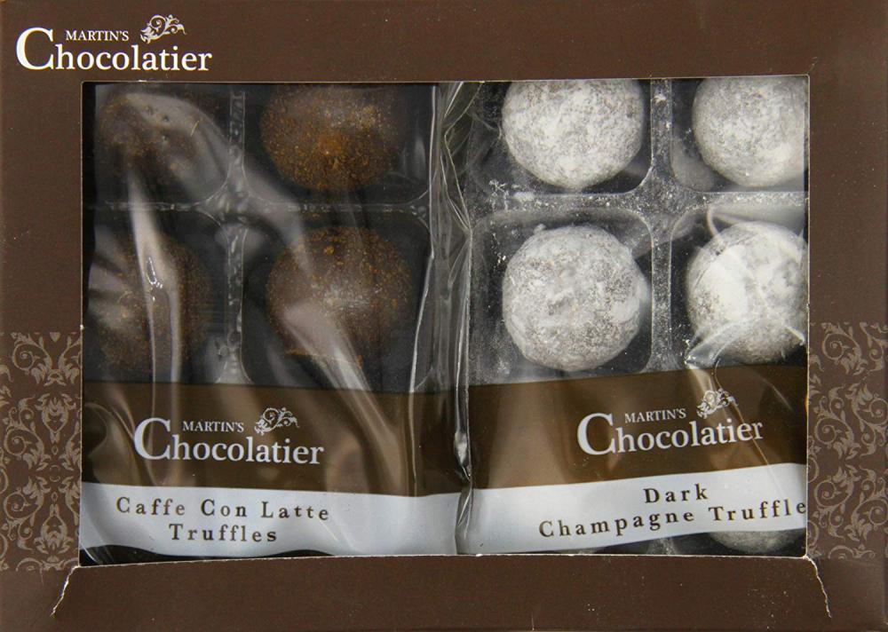 Martins Chocolatier Caffe Latte and Dark Champagne Pack 168g