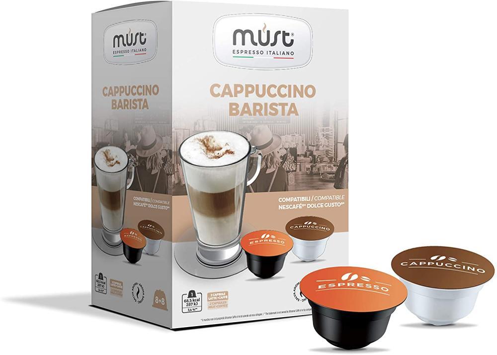 Must Espresso Cappuccino Barista Dolce Gusto Compatible Capsules 172g