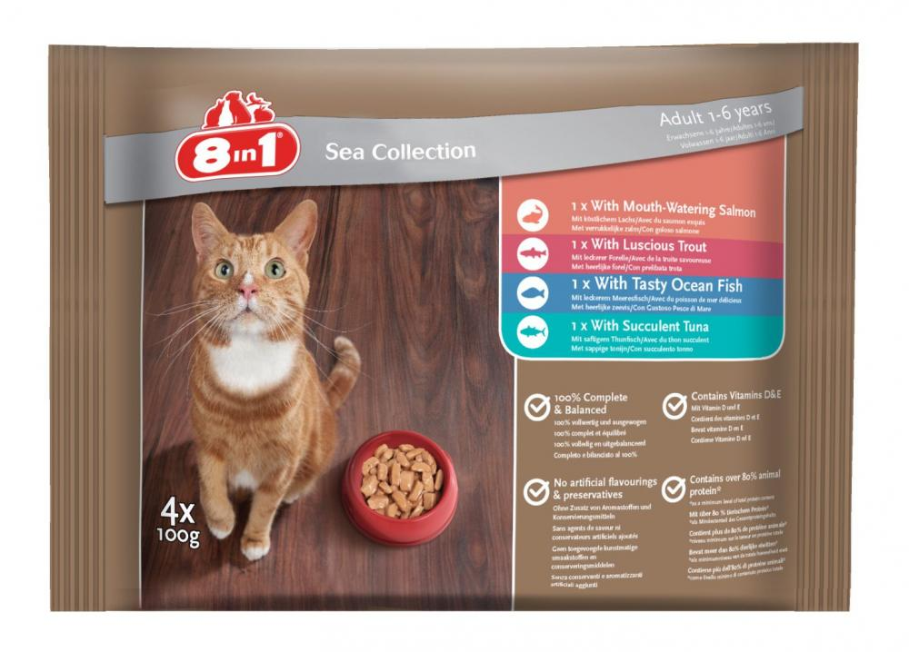Iams Adult 1-6 Years Sea Collection 100g x 4