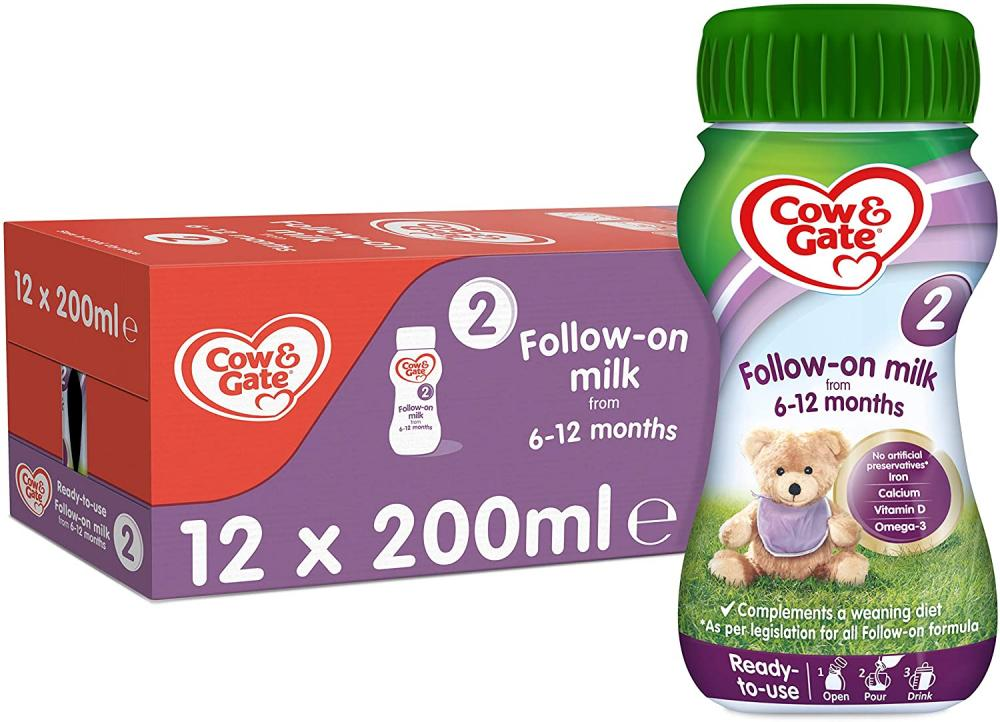 Cow and Gate Follow On Milk 6-12 months 200ml