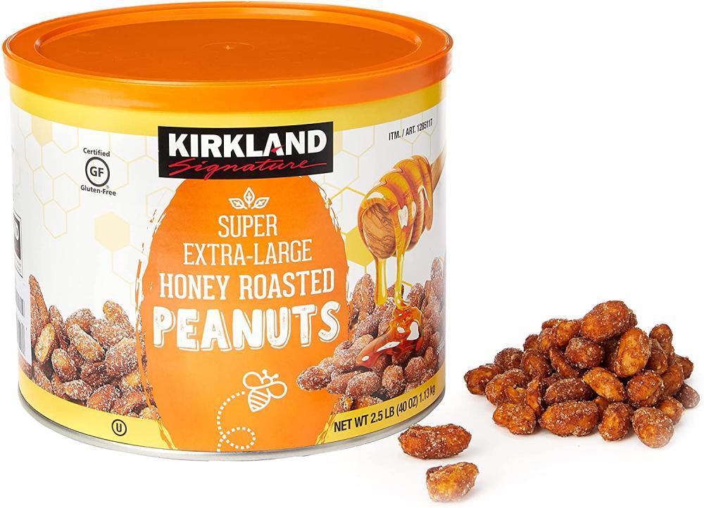 Kirkland Signature Super Extra Large Honey Roasted Peanuts 1.13kg