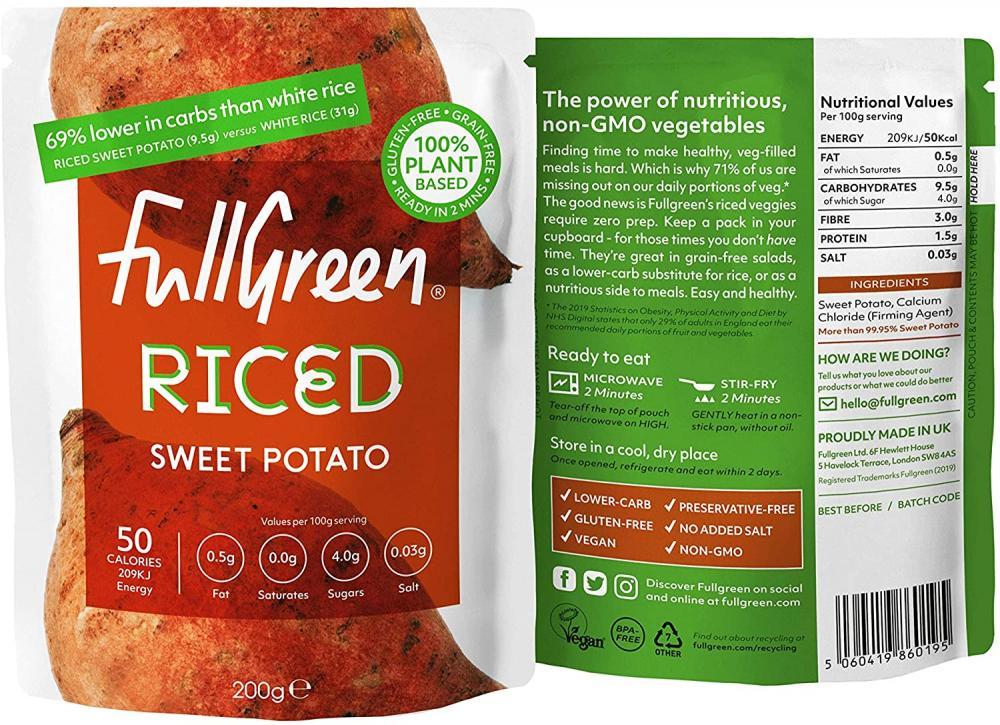 Fullgreen Vegi Rice Sweet Potato 200g